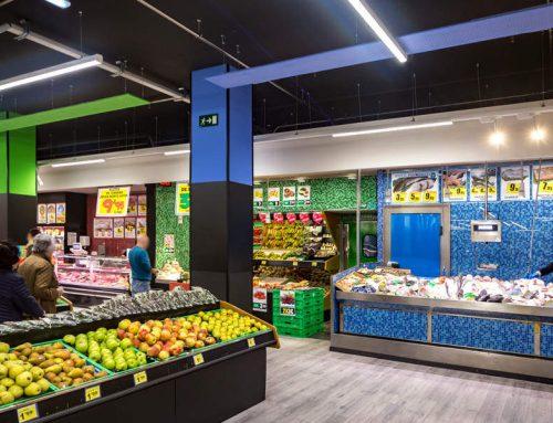 Reforma y adecuación de local comercial para supermercado en Mieres, Asturias.