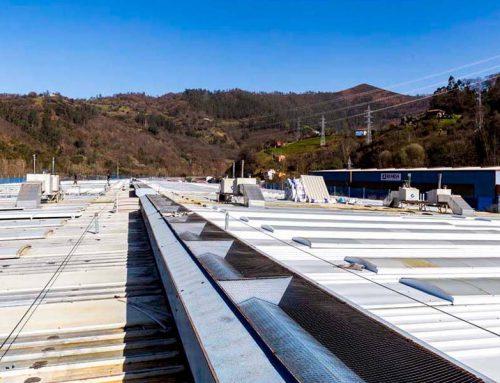 Rehabilitación de cubiertas de nave industrial dedicada a fabricación de escaleras mecánicas.